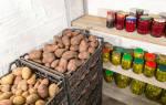Как хранить картошку в гараже
