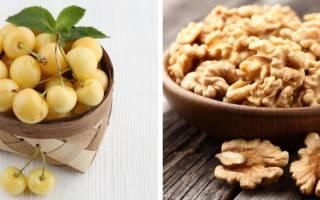Варенье из черешни с орехами