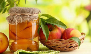Персики без сахара на зиму