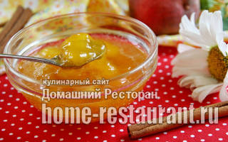 Варенье из персиков с корицей