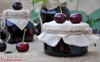 Варенье из вишни густое